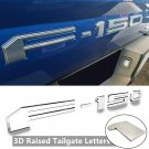 chrome Tailgate 3D Inlay Raised Insert Letters Stickers badge fit for 18-20 Ford F150