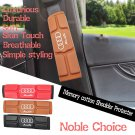 Brown 2pcs Memory cotton No deformation Leather Luxurious Durable Shoulder Protecter fit for AUDI