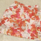 Halogen Skirt Size XL Women's Pink & Orange Floral Fully Lined With Pockets