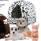 Finelife Pet Products Pet Hut For Cats, Dogs & Small Pets Black Spots Print NEW