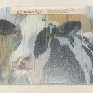 "Counter Art Glass Cutting Board Sweet Daisy Cow Print 12"" x 15"" New"