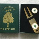 Carnoustie Golf Links The Open 2007 Divot Repair Tool & 1 Ball Marker Stem Type