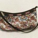 Le SportSac Small Brown Floral Shoulder Bag Purse