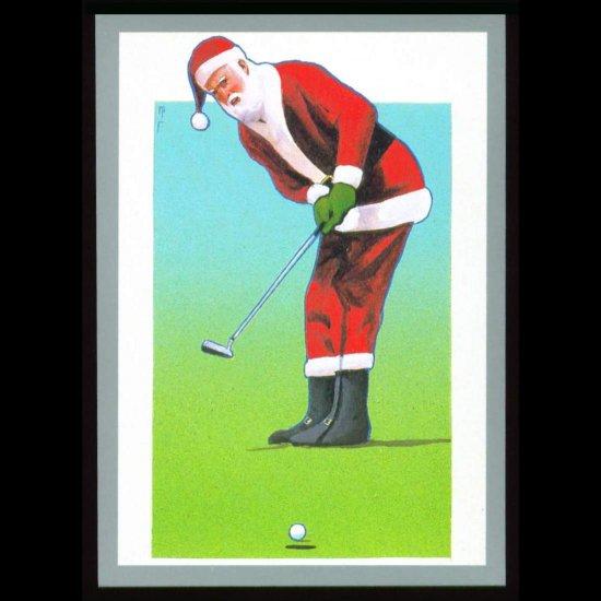 1991 Tuff Stuff Santa Claus Golf Card Very Scarce!