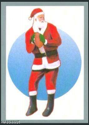 Tuff Stuff Santa Claus Christmas Football Card Rare!