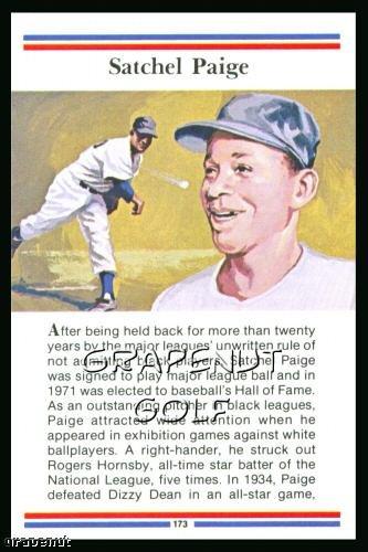 1981 True Value Hardware Satchel Paige Card Rare!