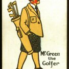 1920's Mr Green Happy Family Uncataloged Golf Card!