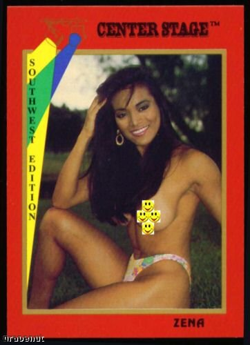 1992 Center Stage Naked Golf Card Zena #20