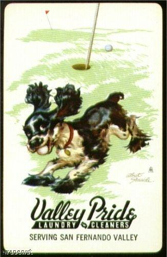 Early Cocker Spaniel RediSlip Playing Swap Ad Golf Card