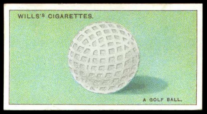 Vintage Wills Do You Know? Mesh Golf Ball Tobacco Card