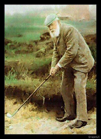 Old Tom Morris Bally Art Golf Card Portrait Series /18