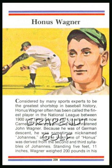 1981 True Value Hardware Honus Wagner Baseball Card