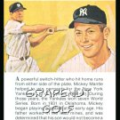 1981 True Value Hardware Mickey Mantle Baseball Card