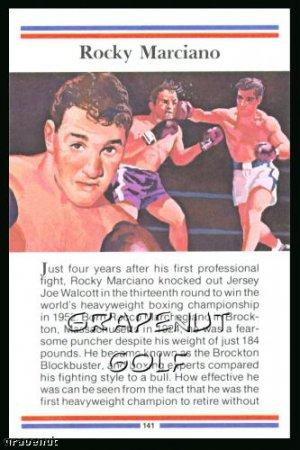 1981 True Value Hardware Rocky Marciano Card Rare!
