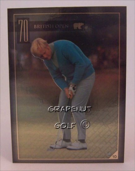 Jack Nicklaus 1970 British Open Golf Trading Card #10
