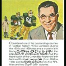 1981 True Value Hardware Vince Lombardi Card Rare!
