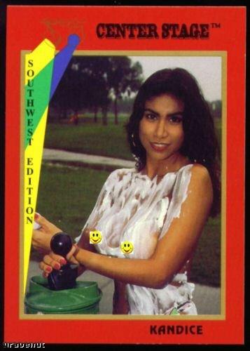 1992 Center Stage Naked Golf Card Kandice #40