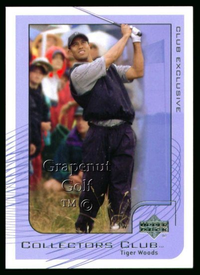 2002 UD Collectors Club Tiger Woods Golf Card #PGA1