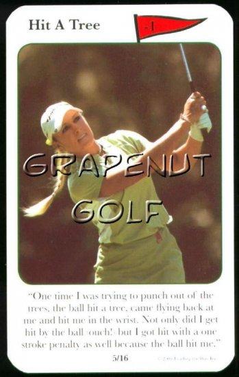 2005 Natalie Gulbis Golf Game Card #5 Hit A Tree