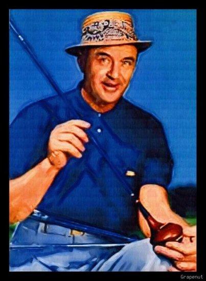 Sam Snead Bally Art Golf Card PGA Portrait Series /18