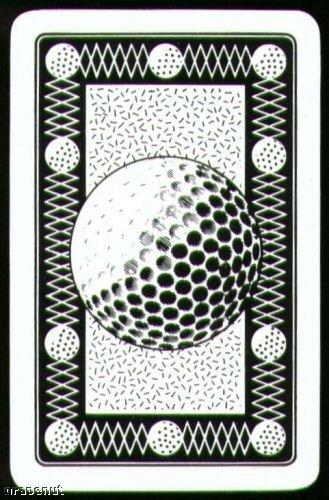 Vintage '80s Golf Ball Black Playing Swap Golf Card