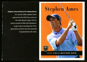 2005 Stephen Ames Nike Large Format Rookie Golf Card