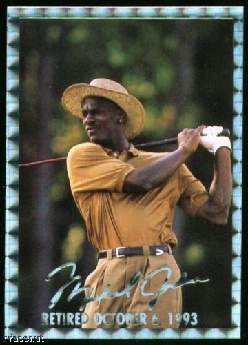 1994 National Michael Jordan Golf Card Silver Version!