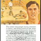 1981 True Value Hardware Jess Willard Card Rare