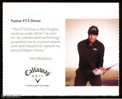 2006 Phil Mickelson Callaway Golf Card  Great card!