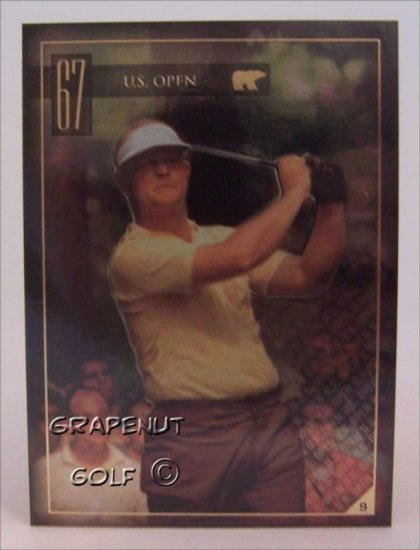 Jack Nicklaus 1967 US Open Golf Trading Card #9 Rare