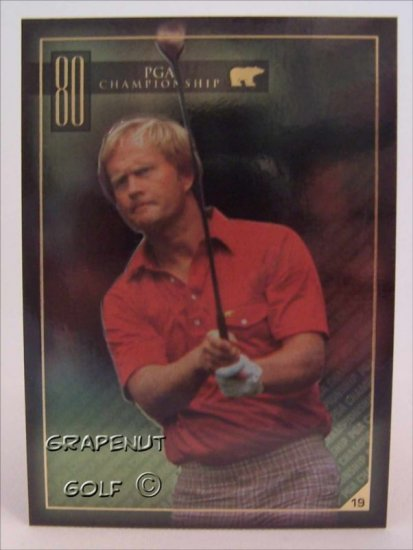 Jack Nicklaus 1980 PGA Golf Trading Card #19 Rare