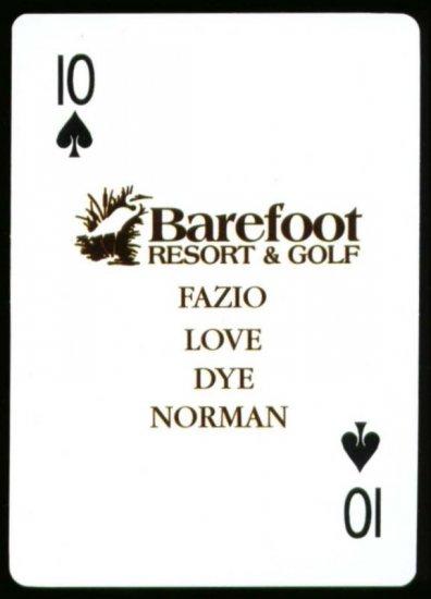 Davis Love Greg Norman Pete Dye Tom Fazio Golf Card