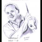 Arnold Palmer Kinney Art Original ACEO Golf PGA Card