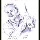 Arnold Palmer Kinney Art Original ACEO Golf PGA Card