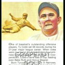 1981 True Value Hardware Ty Cobb Card Rare!