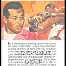 1981 True Value Hardware Sugar Ray Robinson Card Rare