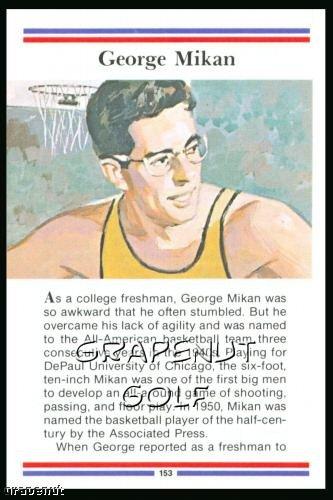1981 True Value Hardware George Mikan Card Rare!