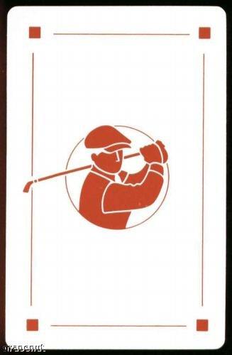 Vintage Golfer Caricature Hoyle Playing Swap Golf Card