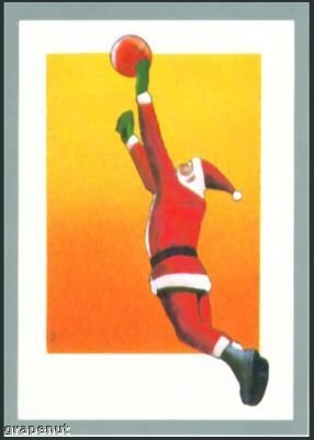 '91 Tuff Stuff Santa Claus Basketball Card Very Rare!