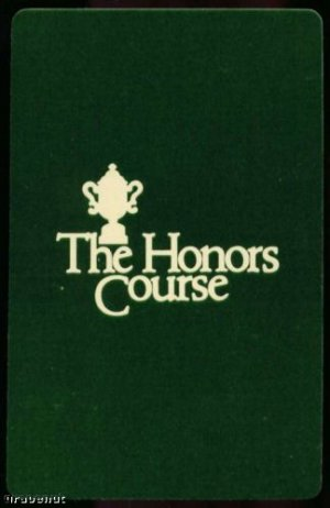 The Honors Course & Trophy Golf Playing Swap Card Nice