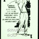 RIPLEYS BELIEVE IT OR NOT BOSWELL BLIND GOLF OLD GAME CARD OBSCURE SCARCE CARD