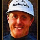 PHIL MICKELSON BRITISH OPEN MASTERS 2007 BALLY ART GOLF CARD /18 RYDER CUP