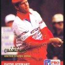 PAYNE STEWART 1992 PRO SET SPECIAL GOLD FOIL RARE VERSION US OPEN PINEHURST CARD