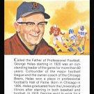 GEORGE HALAS TRUE VALUE PAPA BEAR CHICAGO BEARS HOF FOOTBALL CARD 8 SUPER BOWLS