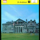 SPORTSCASTER 1979 GOLF CARD ST ANDREWS OLD COURSE ROYAL & ANCIENT SCOTLAND 56-17
