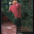 TIGER WOODS 2003 UD SP AUTHENTIC 2002 MASTERS CHAMPION #101 1590/2002 RYDER CUP