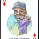 TIGER WOODS GRAND SLAM PGA NIKE HOF GOLF SINGLE PLAYING SWAP CARD RYDER CUP