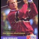 JACK NICKLAUS 1992 PRO SET SPECIAL GOLD FOIL STAMPED RARE VERSION SENIOR PGA WIN