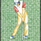 VINTAGE OLD GOLFER GREEN THATCH SINGLE PLAYING SWAP COLLECTIBLE GOLF POKER CARD