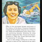 FLORENCE CHADWICK TRUE VALUE SPORT CARD 1st ENGLISH CHANNEL SWIM BOTH WAYS HOF
